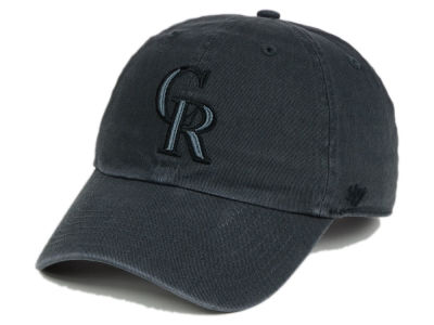 Colorado Rockies '47 MLB Charcoal Black '47 CLEAN UP Cap