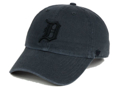 Detroit Tigers '47 MLB Charcoal Black '47 CLEAN UP Cap