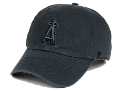 Los Angeles Angels '47 MLB Charcoal Black '47 CLEAN UP Cap