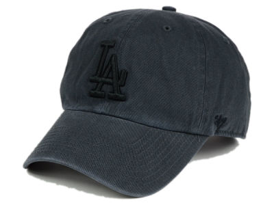 Los Angeles Dodgers '47 MLB Charcoal Black '47 CLEAN UP Cap