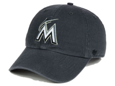Miami Marlins '47 MLB Charcoal Black '47 CLEAN UP Cap