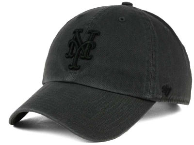 New York Mets '47 MLB Charcoal Black '47 CLEAN UP Cap