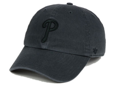 Philadelphia Phillies '47 MLB Charcoal Black '47 CLEAN UP Cap