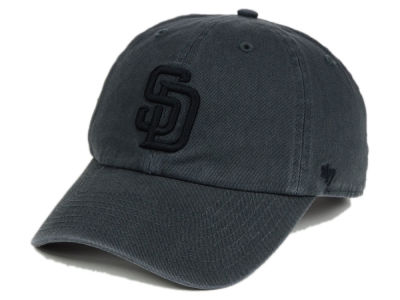 San Diego Padres '47 MLB Charcoal Black '47 CLEAN UP Cap