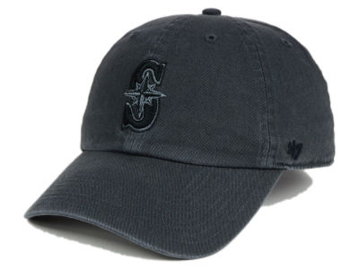 Seattle Mariners '47 MLB Charcoal Black '47 CLEAN UP Cap