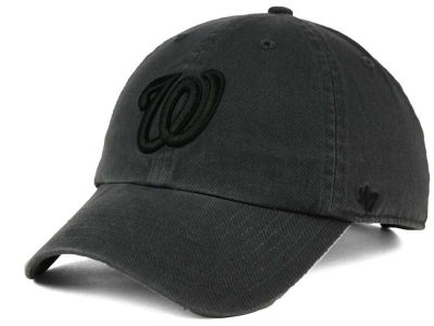 Washington Nationals '47 MLB Charcoal Black '47 CLEAN UP Cap