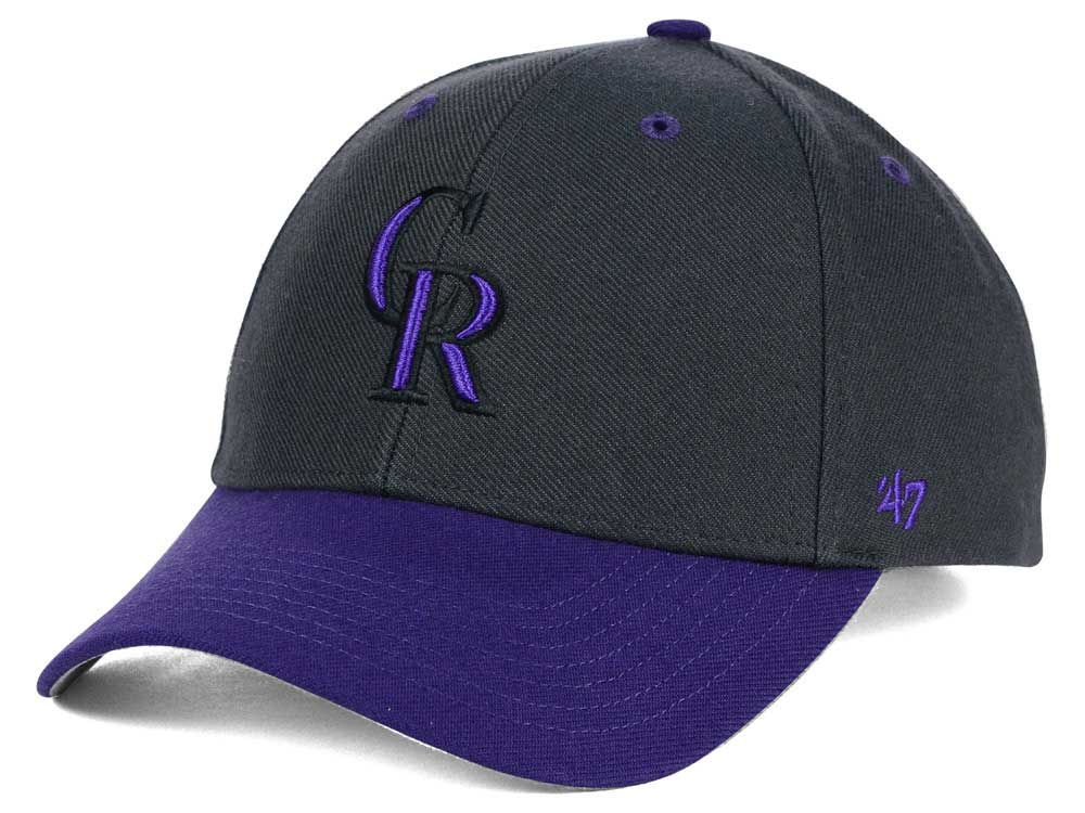 detailed look 998d4 b7a06 ... black one size 8c522 ff50e  cheapest colorado rockies 47 mlb kids  audible 47 mvp cap 8db81 7f1a6