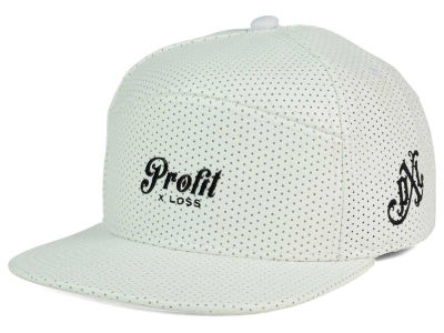 Profit X Loss Perforated Leather Hybrid Strapback Hat