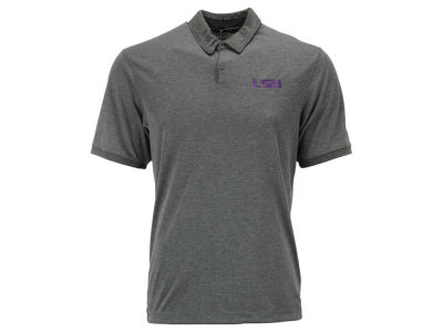 LSU Tigers Nike Golf NCAA Men's Transition Heather Polo