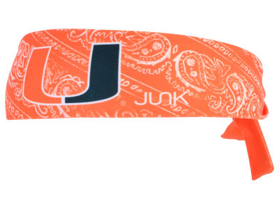 Miami Hurricanes Junk Brands NCAA Flex Tie Headband