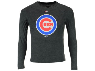 Chicago Cubs Majestic MLB Youth Primary Logo Long Sleeve T-Shirt
