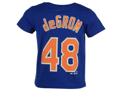 New York Mets Jacob DeGrom MLB Toddler Official Player T-Shirt