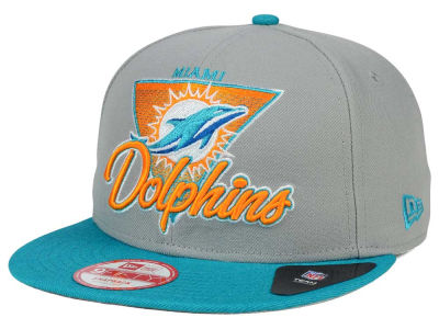 Miami Dolphins New Era NFL Chase Gray 2 Tone 9FIFTY Snapback Cap