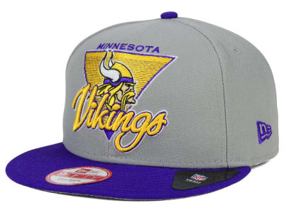 Minnesota Vikings New Era NFL Chase Gray 2 Tone 9FIFTY Snapback Cap