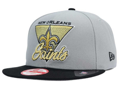 New Orleans Saints New Era NFL Chase Gray 2 Tone 9FIFTY Snapback Cap