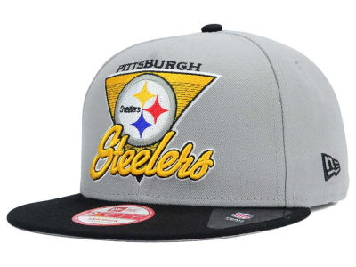 Pittsburgh Steelers New Era NFL Chase Gray 2 Tone 9FIFTY Snapback Cap