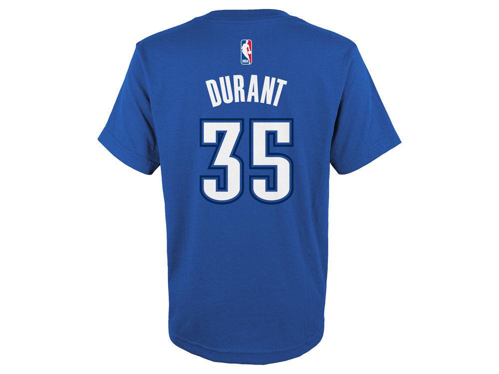 0ab18a05c Oklahoma City Thunder Kevin Durant adidas NBA Kids Name And Number T-Shirt