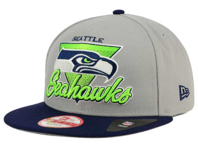 Seattle Seahawks New Era NFL Chase Gray 2 Tone 9FIFTY Snapback Cap
