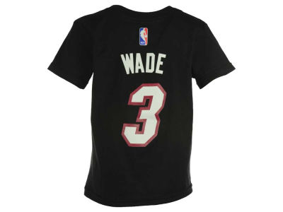 Miami Heat Dwyane Wade  NBA Kids Name And Number T-Shirt