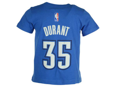 Oklahoma City Thunder Kevin Durant NBA Toddler Name And Number T-Shirt