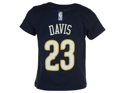New Orleans Pelicans Anthony Davis NBA Toddler Name And Number T-Shirt