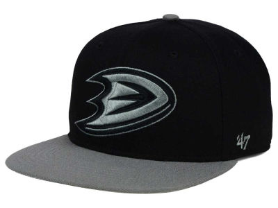 Anaheim Ducks '47 NHL Black on Gray 2 Tone '47 CAPTAIN Cap