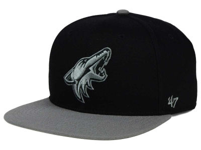 Arizona Coyotes '47 NHL Black on Gray 2 Tone '47 CAPTAIN Cap
