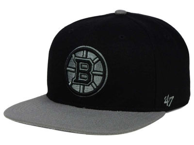 Boston Bruins '47 NHL Black on Gray 2 Tone '47 CAPTAIN Cap