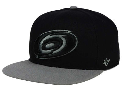 Carolina Hurricanes '47 NHL Black on Gray 2 Tone '47 CAPTAIN Cap
