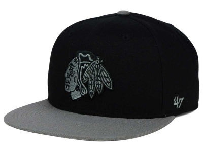 Chicago Blackhawks '47 NHL Black on Gray 2 Tone '47 CAPTAIN Cap