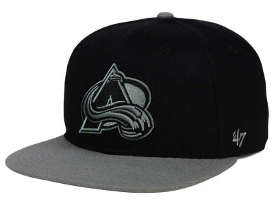 Colorado Avalanche '47 NHL Black on Gray 2 Tone '47 CAPTAIN Cap