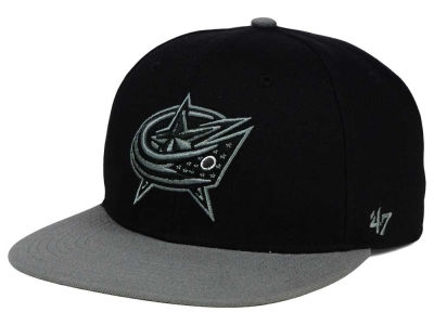 Columbus Blue Jackets '47 NHL Black on Gray 2 Tone '47 CAPTAIN Cap
