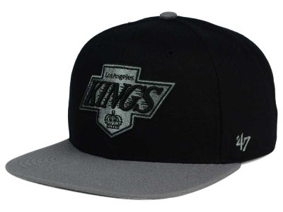 Los Angeles Kings '47 NHL Black on Gray 2 Tone '47 CAPTAIN Cap