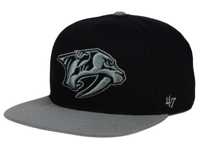 Nashville Predators '47 NHL Black on Gray 2 Tone '47 CAPTAIN Cap