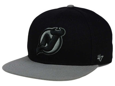 New Jersey Devils '47 NHL Black on Gray 2 Tone '47 CAPTAIN Cap