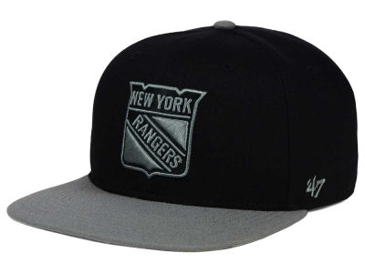 New York Rangers '47 NHL Black on Gray 2 Tone '47 CAPTAIN Cap
