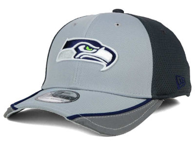 Seattle Seahawks New Era NFL Chase Gray Reflective 39THIRTY Cap