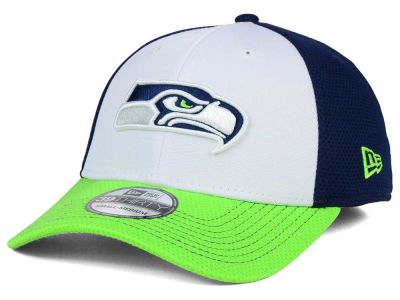 timeless design 686a5 aae5d Seattle Seahawks New Era NFL Chase White Front Mesh 39THIRTY Cap