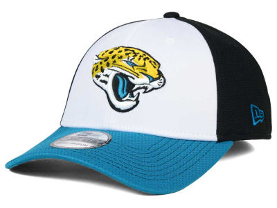 Jacksonville Jaguars New Era NFL Chase White Front Mesh 39THIRTY Cap