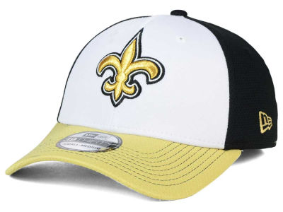 New Orleans Saints New Era NFL Chase White Front Mesh 39THIRTY Cap
