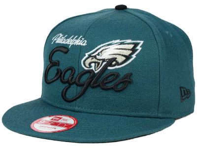 Philadelphia Eagles New Era NFL Chase Script Front 9FIFTY Snapback Cap