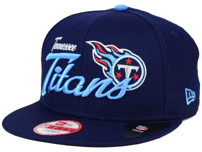Tennessee Titans New Era NFL Chase Script Front 9FIFTY Snapback Cap