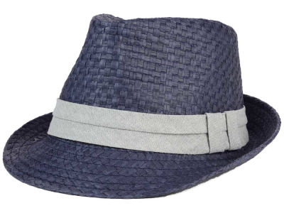 LIDS Private Label Straw Chambray Band Tall Bow Trilby
