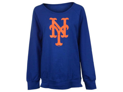 New York Mets MLB Women's Team Logo Crew Fleece
