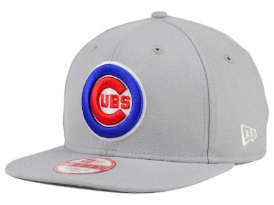 Chicago Cubs New Era MLB Gray Chase 9FIFTY Snapback Cap
