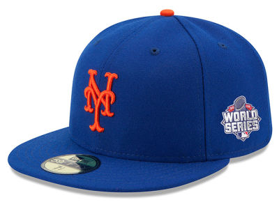 New York Mets New Era MLB 2015 World Series AC Patch 59FIFTY Cap