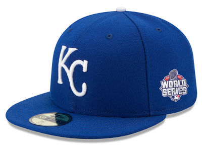 Kansas City Royals New Era MLB 2015 World Series AC Patch 59FIFTY Cap