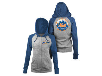 New York Mets MLB Women's Comfy Gliiter Hoodie