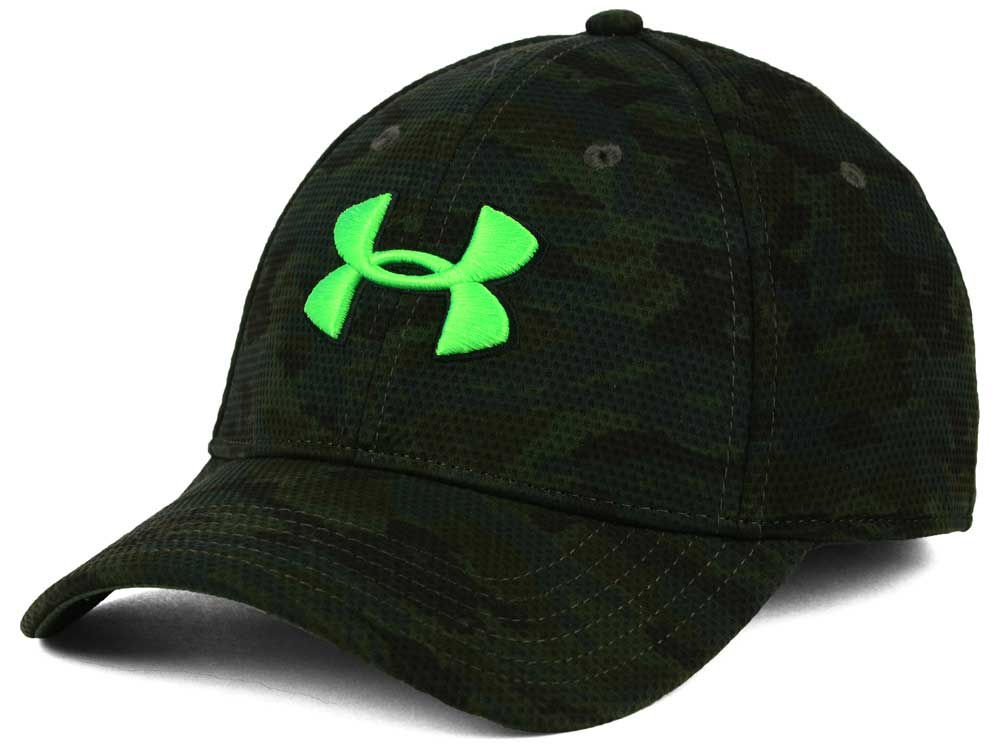 Under Armour Print Blitzing Stretch Fit Cap  34f45cb00ae