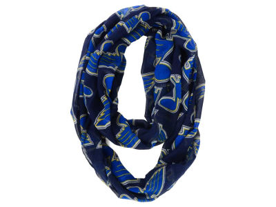 St. Louis Blues All Over Logo Infinity Wrap Scarf
